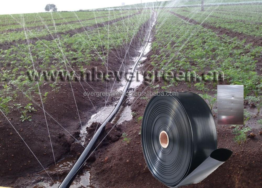 Pe cinta de doble ala lluvia lluvia manguera para riego - Manguera para riego por goteo ...