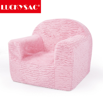 Luckysac Supply Pink Micro Suede Mini Kids /children Foam Chair ...
