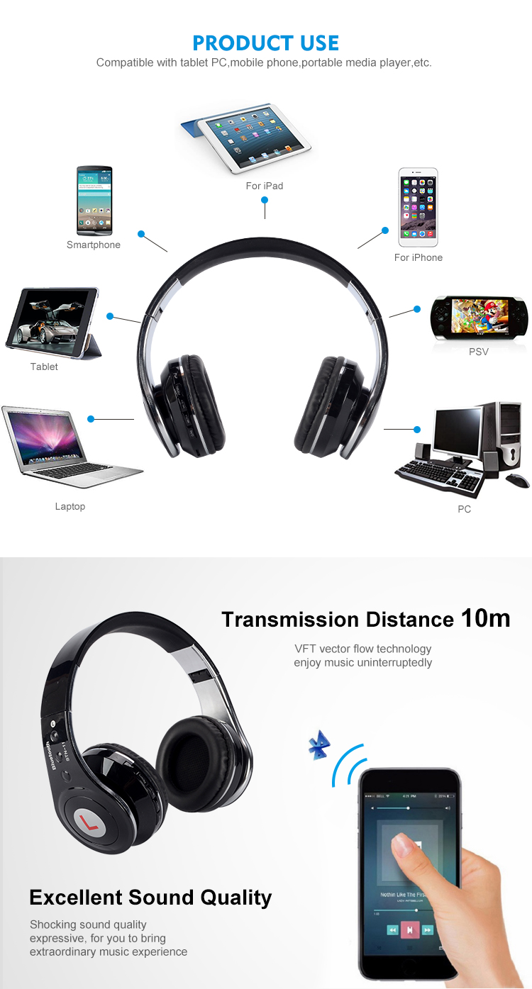 Custom wireless gaming headset computer headphones