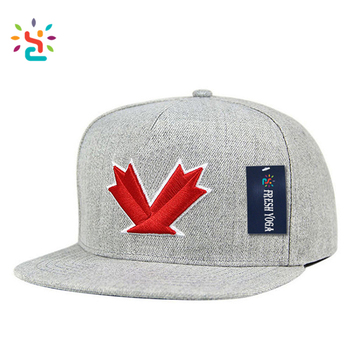 a5cf4830a4f China Factory Custom Top Quality 5 Panel embroidery Patch Nylon Yupoong  Classic Snapback Caps grey Hat