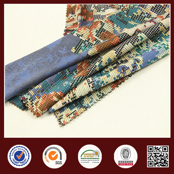 China textile solution dyed fabric printed 60%rayon 35%polyester 5%spandex
