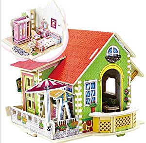 Get Quotations Coeus 3d Wooden Puzzle Dream Villa Bedroom Educational Games For Kids