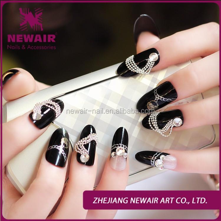 Wedding Nails With Pre Glue 3d Pearl Crystal Diamond 24 Pcs Per Box