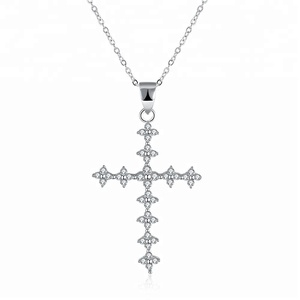 Fashionable new design Spanish prayer cross titanium steel couple pendant necklace