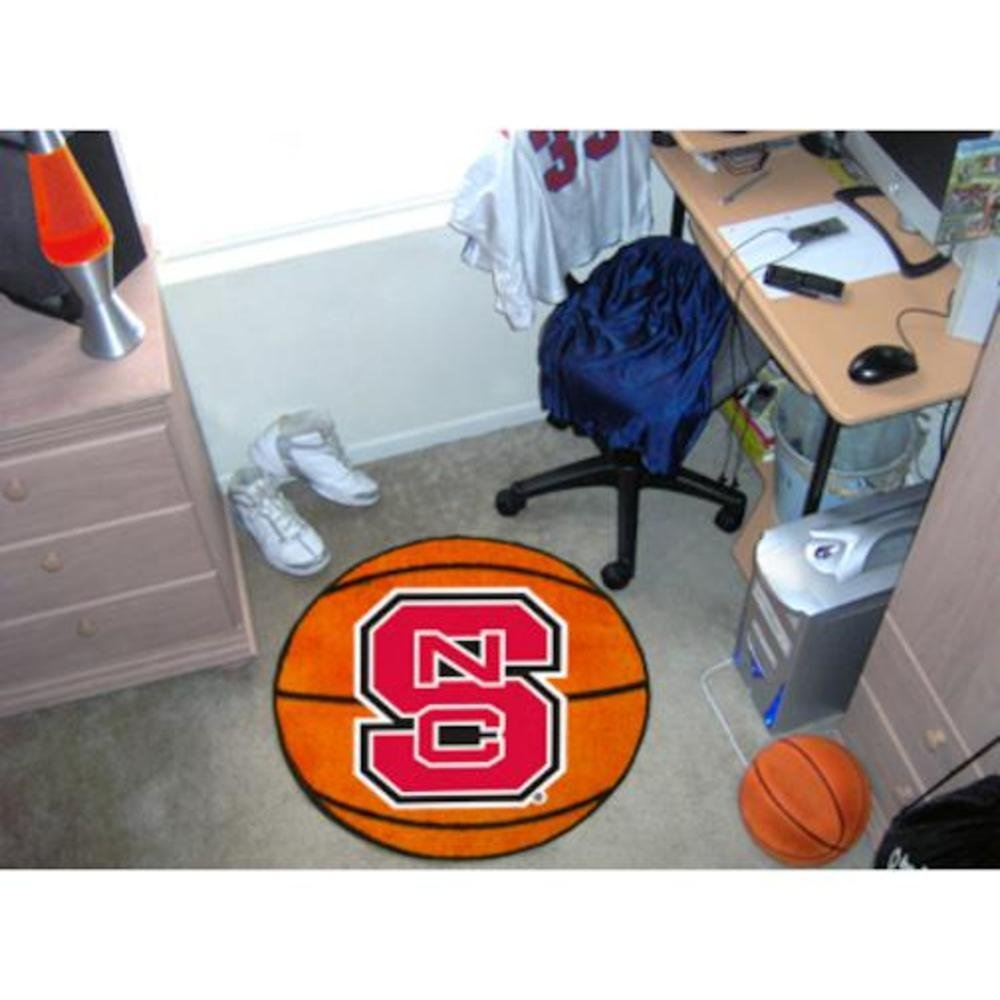 Fanmats North Carolina State Wolfpack Basketball-Shaped Mat