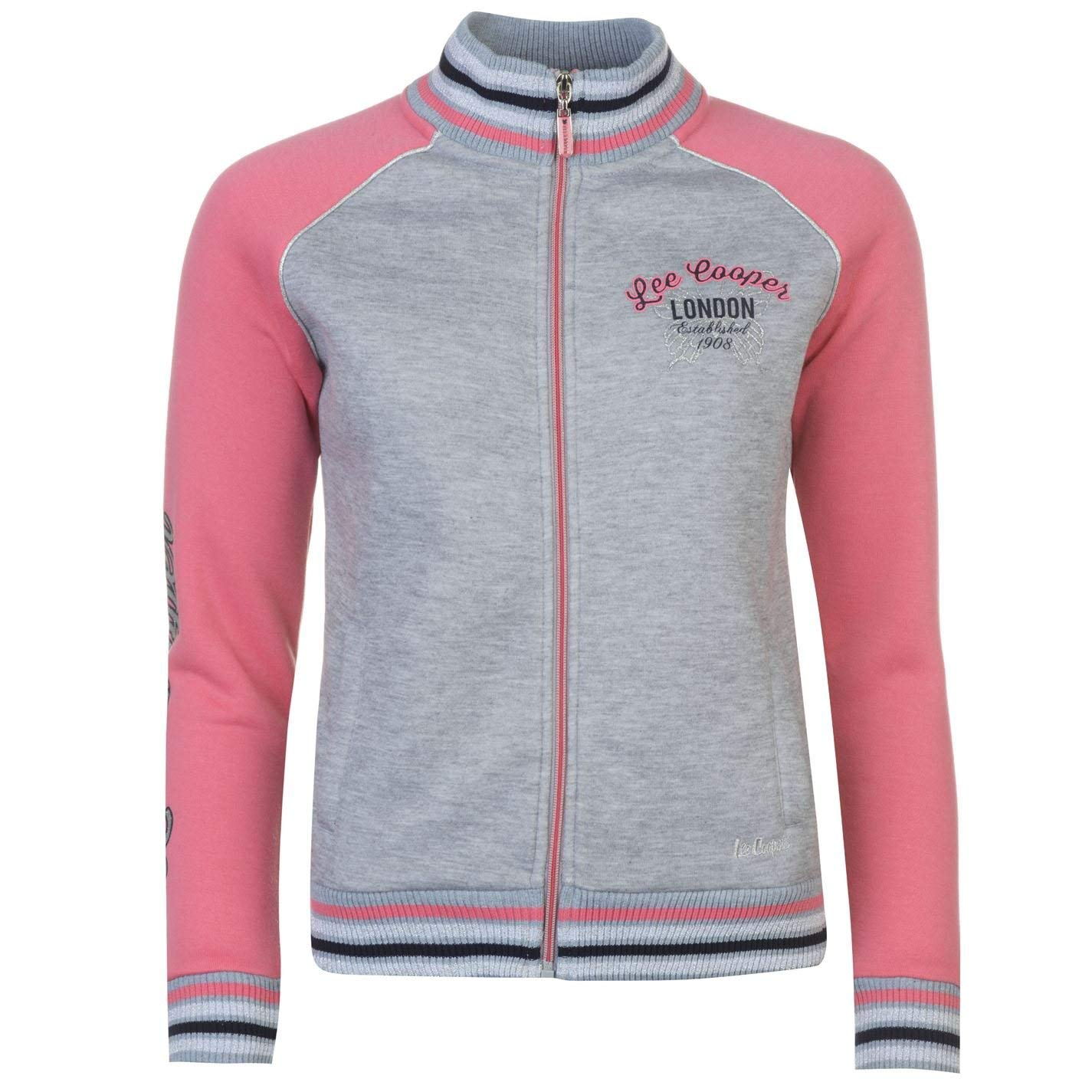 1694ba86 Get Quotations · Lee Cooper Womens Glitzy Zipped Jacket Full Zip Sweater  Coat Top Jumper Pullover Grey M/