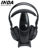 RF863 Home Wireless Stereo On-Ear Headphones for TV, 100m wireless Range - Black