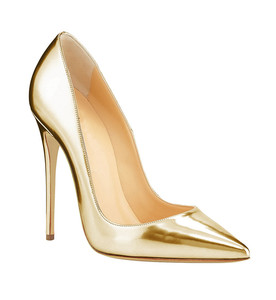 Gold Silver metallic leather high heels dress shoes bridal wedding shoes for women