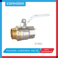 2pcs brass ball valve water Dacromet handle with pvc covered use a quarter shut off/on 15mm 3/4 inch solenoid valves