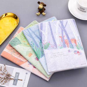 A5 rubber sleeve Korean small fresh and simple literature student notebook