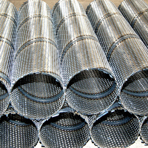 "Perforated stainless steel 2"" Slotted Drill Pipe Screen"