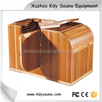 mini half body sauna room in red cedar buy sauna half body sauna infrared sauna room product. Black Bedroom Furniture Sets. Home Design Ideas