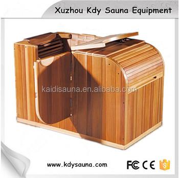 mini half body sauna room in red cedar buy sauna half. Black Bedroom Furniture Sets. Home Design Ideas