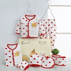 Lovely (7 pieces/set) Newborn Baby Infant Boy's Girl's Cotton Clothes Sets Child Kid's 0-3 Month New Born Baby Clothings