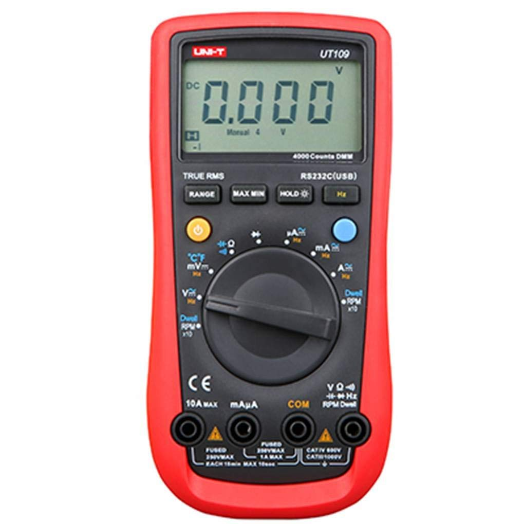 MuLuo UNI-T UT109 3999 Counts LCD Backlit Handheld Automotive Digital Multimeter AC/DC Voltage Current Tester Meter Tools