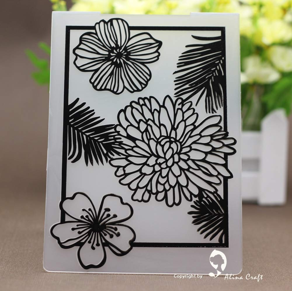 Embossing Scrapbooking Cutting Die Embossing Folders Plastic Embossing Folder Spring Flower DIY Scrapbook Album Card Gift Packing Paper Craft Paper Craft Making
