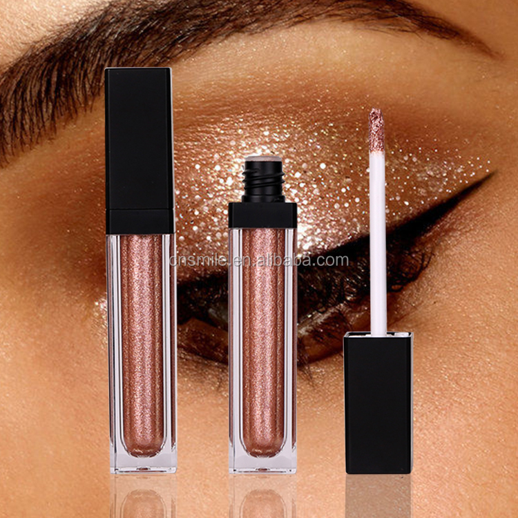 Vegan High pigment diamond organic liquid makeup private label glitter liquid  eyeshadow
