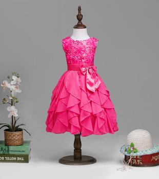 fe7b91a55d74 Sleeveless V-Neck Lace Ivory Flower Girl Princess Party Dress 2 ...