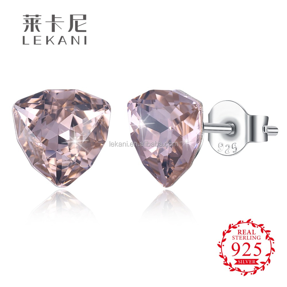 Sample silver Energic LEKANI Crystals from Swarovski element pierce earrings