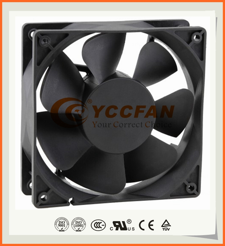 UL CE 12cm 120mm fan 120x120x38mm 5v 12v dc fan 3000rpm three wire FG optional