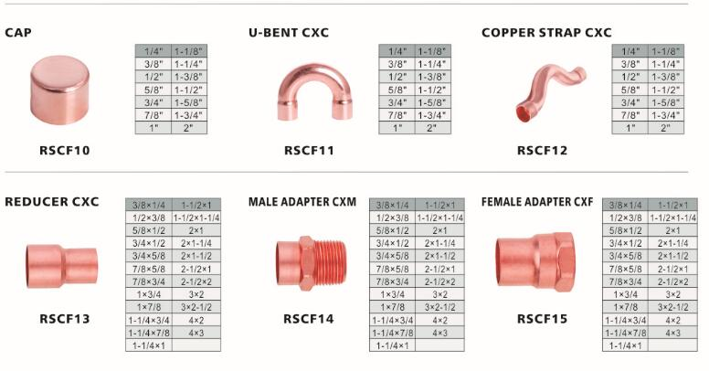 Coolsour air conditioner copper pipe fittings