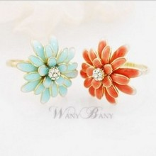 LZ Jewelry Hut R139 R140 The 2016 New Fashion Punk Daisy Wholesale Alloy Adjustable Rings For