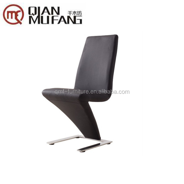 New Spec Z Shaped Side Dining Chair In Black PU