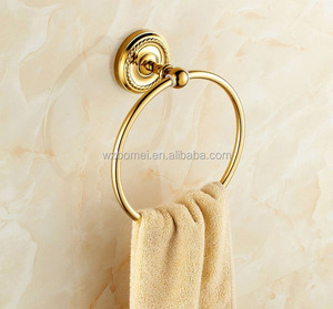 Gold color round shape towel ring Solid Brass towel ring ,Bathroom Hardware Product,Bathroom Accessories acrylic towel ring