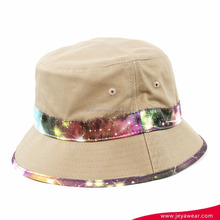 Bucket Hat Vintage Galaxy Universe Print Boonie Cap Hunting Fishing Sport Roll Brim Hat