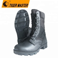 Genuine leather and fabric rubber sole military boot for sale