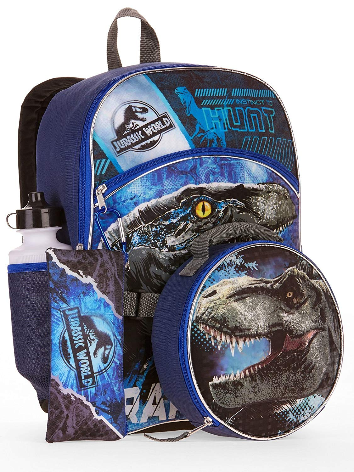 Jurassic World 5-Piece Backpack Set With Lunch Bag