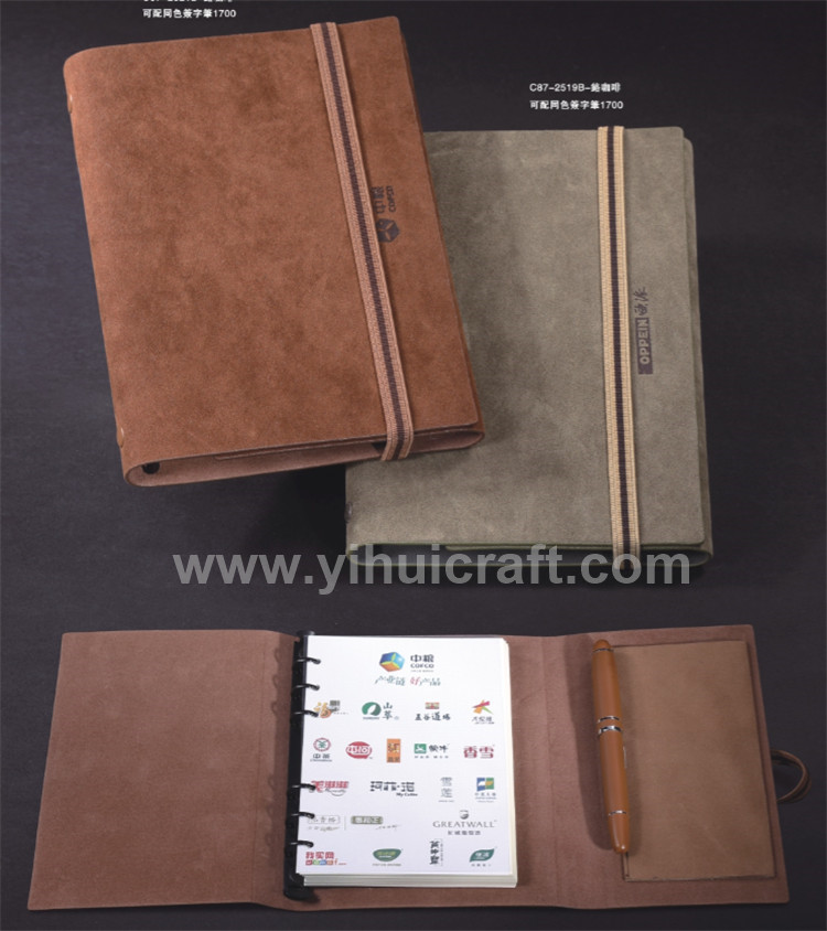 Promotional Eco-friendly Spiral Bound Paper Notebook With Pen