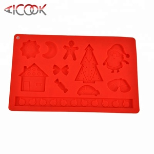 Factory price Christmas gift items silicone candy mold