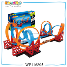 high speed hand-powered pull back racing track car toy electric toy race track