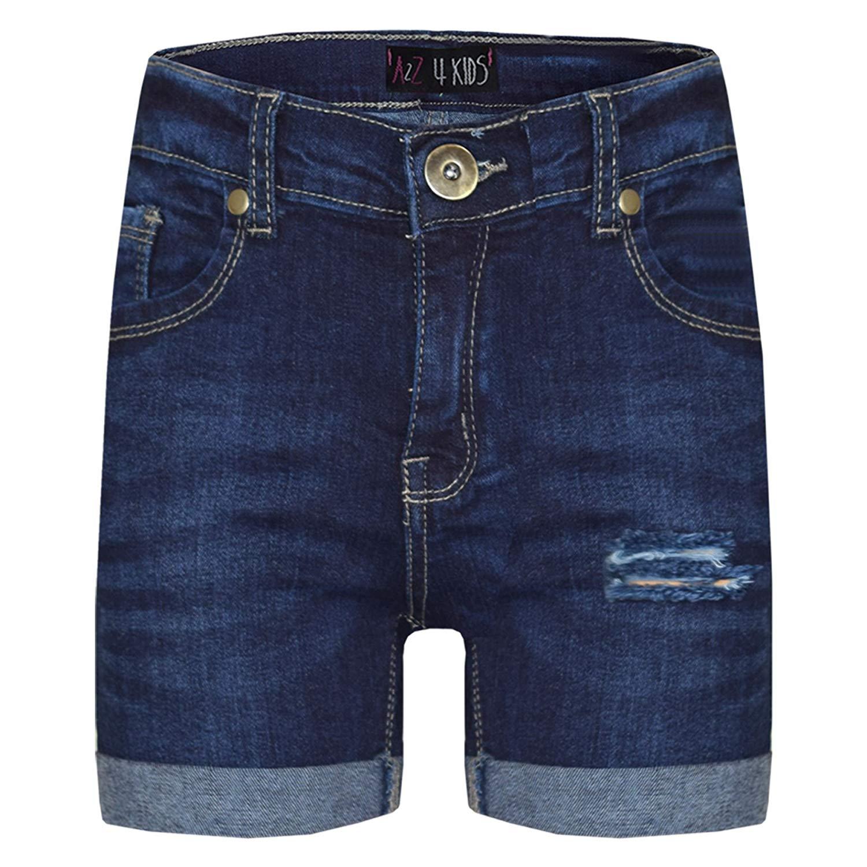 3c03e8ac12 Kids Shorts Boys Girls Denim Ripped Chino Bermuda Shorts Knee Length 5-13  Years