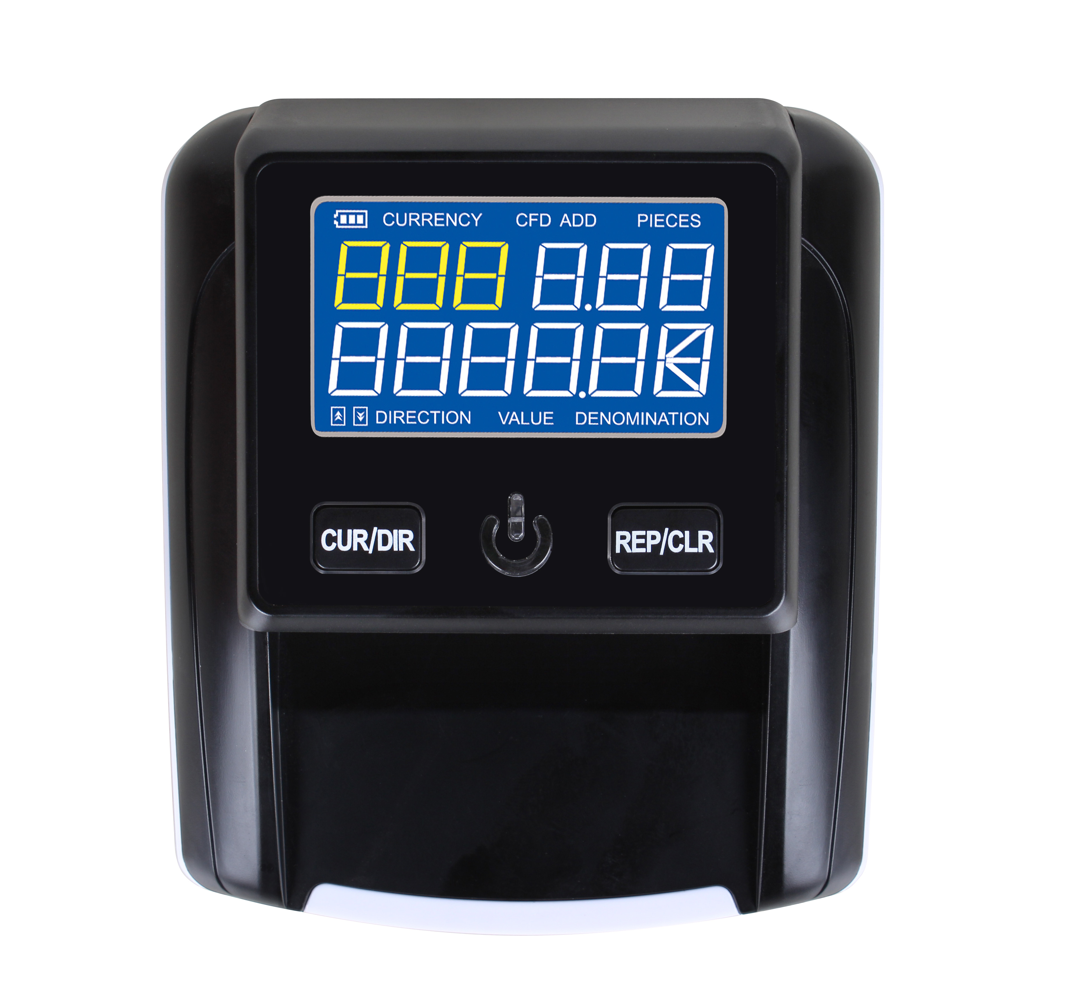 LCD display Portable Banknote Detector USD/EUR/GBP/RUB/BRC/IQD/PRK Fake Money Detecting machine