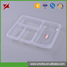 Chinese style lunch blister container takeaway PP divided food trays plastic