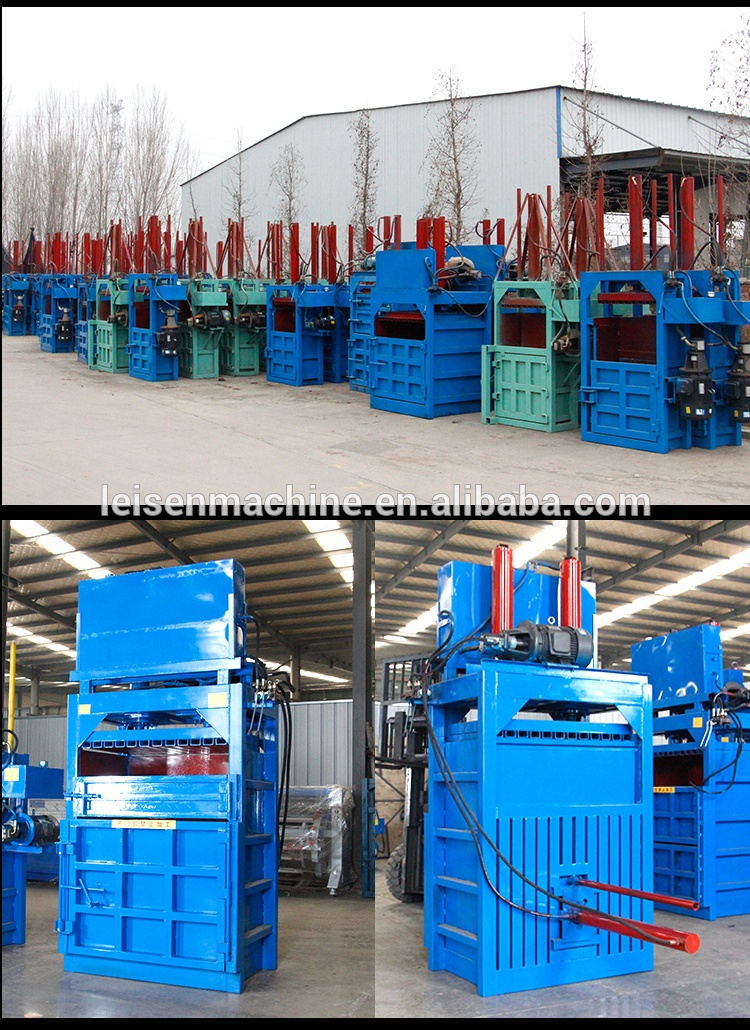 Waste Paper Baling Press Machine /Vertical Hydraulic plastic scrap baler manufacturer/Hydraulic waste plastic bottle press baler