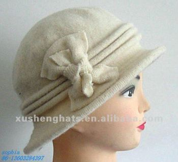 2018 Ladies White Wool Knit Women Elegant Winter Wool Hat - Buy ... fe87152bf43