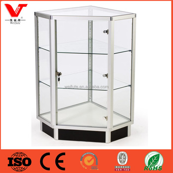 Jewelry Showcase And Counter Corner Gl Display Cabinet For