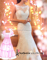 High Quality Sleeveless Beach Wedding Dress Custom Made Wedding Gowns