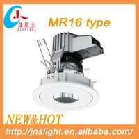 Foshan diecasting MR16 halogen 220v light fixtures white color on discount
