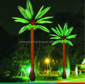 4.5m Decorative Coconut Tree With Lighting,led Outdoor Projection Light