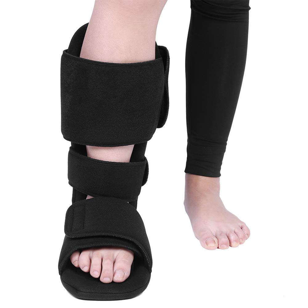 Foot Drop Brace Corrector Night Plantar Fasciitis Sleep Foot Support for Left and Right Feet Eases Symptoms of Achilles Tendonitis Provides Support for Heel Pain(M (Size 40-43))