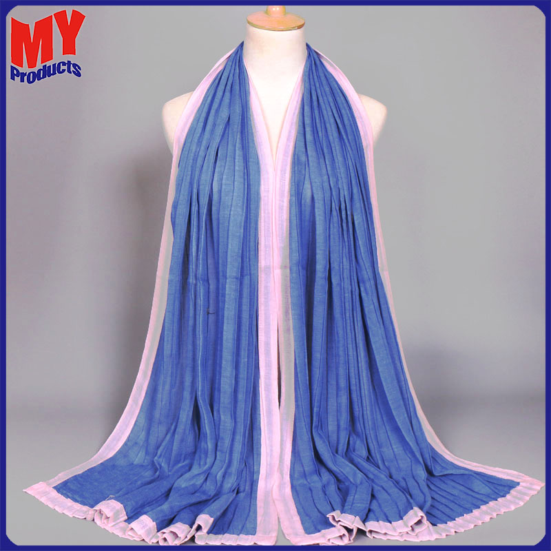 Adult cheap polyester chiffon fashionable scarf knit rugby scarf dubai shawl wool scarf