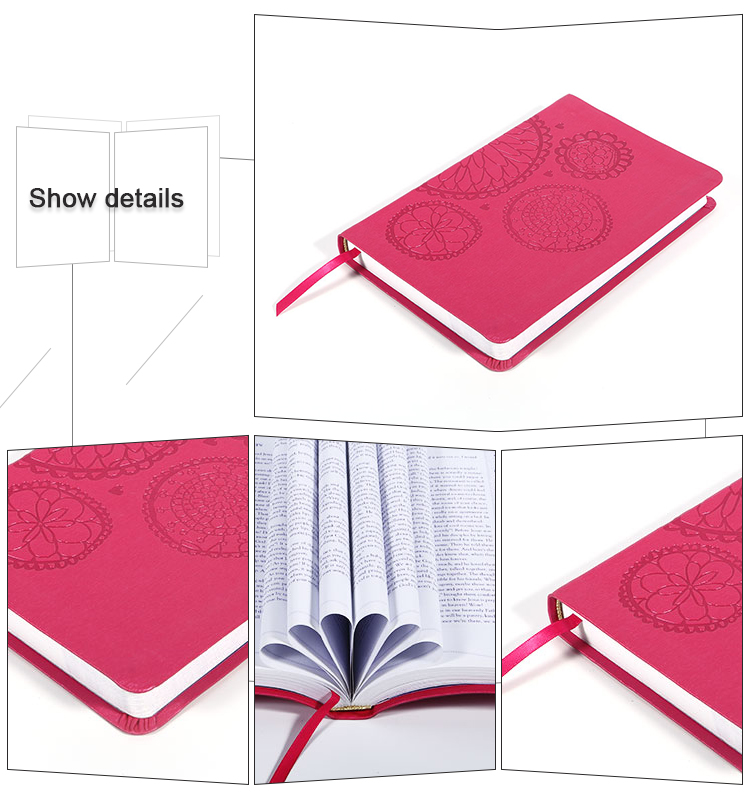 CMYK Customized print hardcover book with ribbon book mark