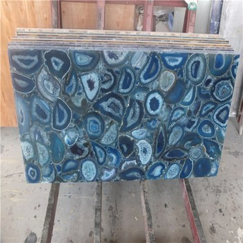 Dekorativeinnen Stein Wandfliesen Gefarbt Achat Fliesen Blau Semi