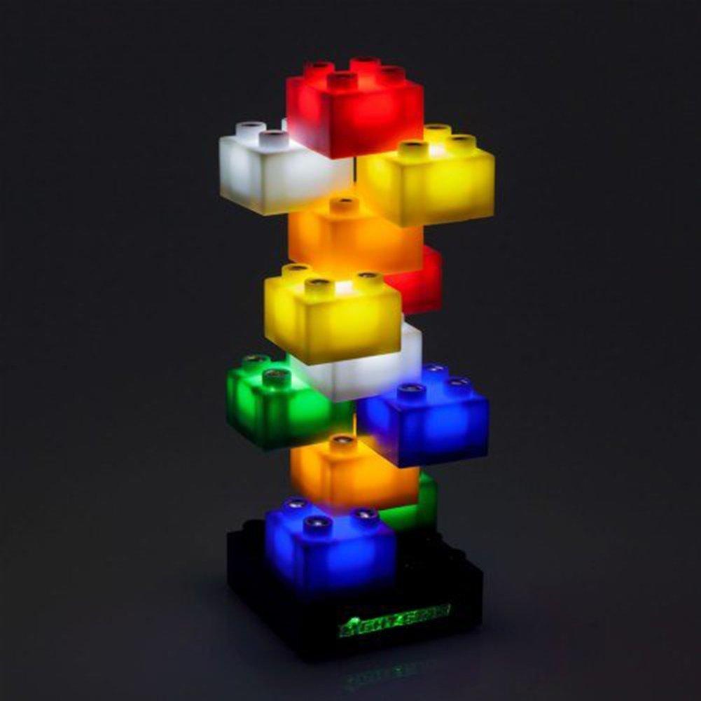 Light Stax LED Light-Up Building Blocks Starter Set (12 Pieces)