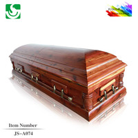 American fashional wood funeral sale JS-A074 casket decorations