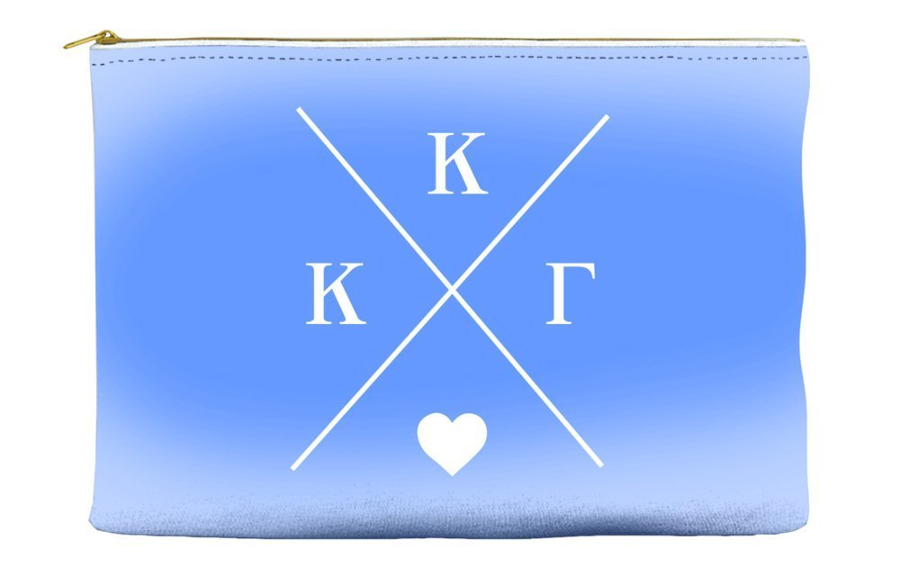 Kappa Kappa Gamma Hipster Logo Purple Cosmetic Accessory Pouch Bag for Makeup Jewelry & other Essentials